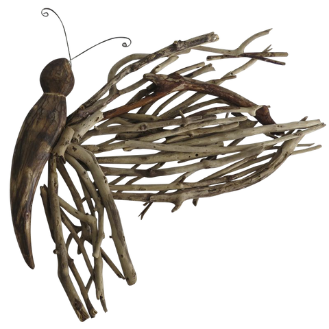 Large Driftwood 3D Butterfly Wall Decor