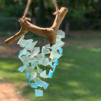 Driftwood and Sea Glass Wind Chime