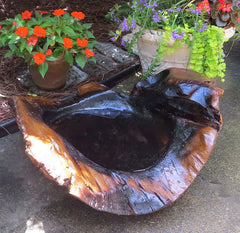 Extra large Teak Ground Bird Bath