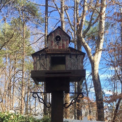 Farmhouse Barn Birdhouse on 4x4 Post