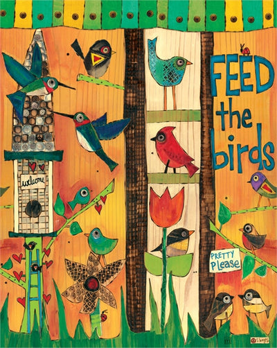 Feed the Birds Art Pole Detail