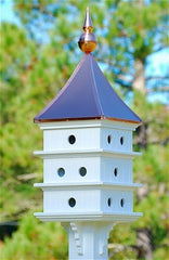 Copper Roof Purple Martin Birdhouse in Vinyl/PVC, 52-inch