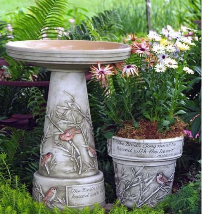 Garden Songbirds Bird Bath-Locking Top