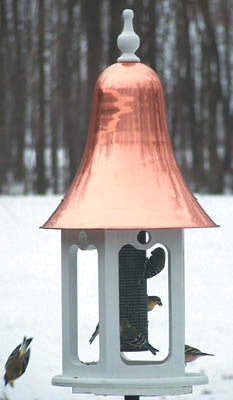 Gazebell Bird Feeder with Copper Roof