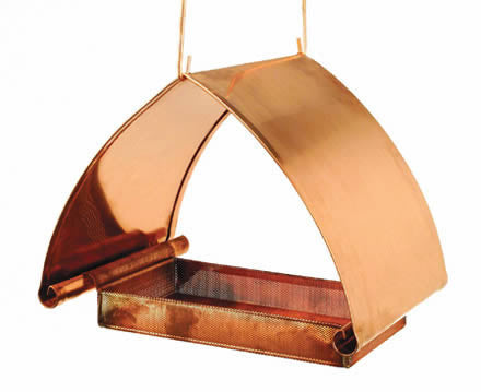 Copper Fly-Thru Bird Feeder