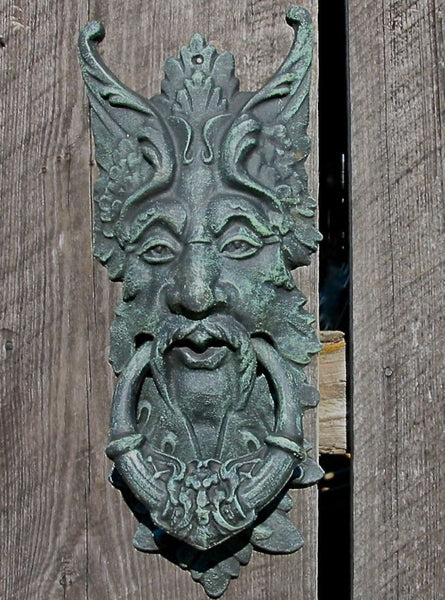 Cast Iron Green Man Door Knocker Gate Keeper The
