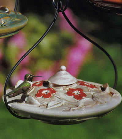 Habita Flora Ceramic Hummingbird Feeder by Parasol