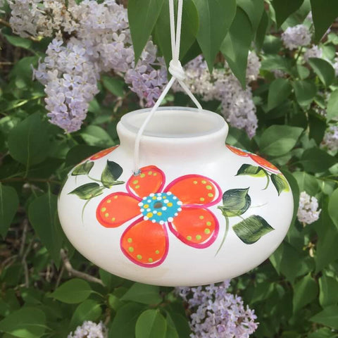 Ceramic Blossom Hummingbird Feeder