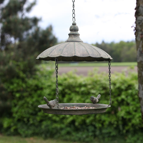 Antique Hanging Tray Bird Feeder