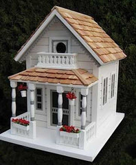 Victorian Cottage Birdhouse-White