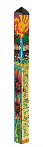 Healing Garden Vinyl Art Pole 4 ft.