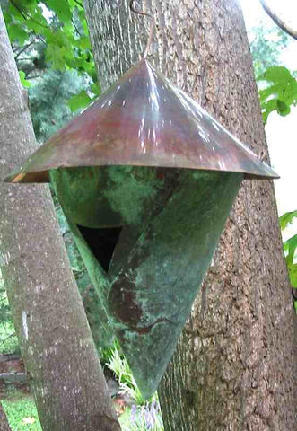 Aged Copper Birdhouse