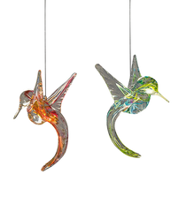 Hand Blown Glass Hummingbird Sun Catchers