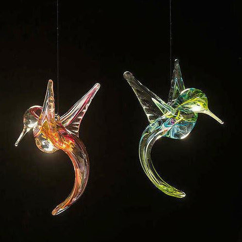 Blown Glass Hummingbird Sun Catchers