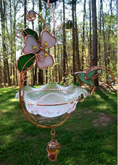 Hanging Dish Feeder & Mini Bath-Hummingbird
