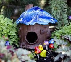 Handcrafted Garden Toad Houses Set/2