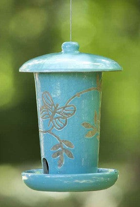 Haven Ceramic Hanging Bird Feeder The Birdhouse Chick