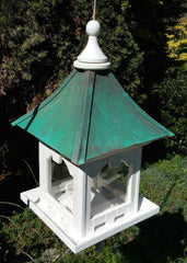 Large Capacity Hanging Copper Roof Bird Feeder