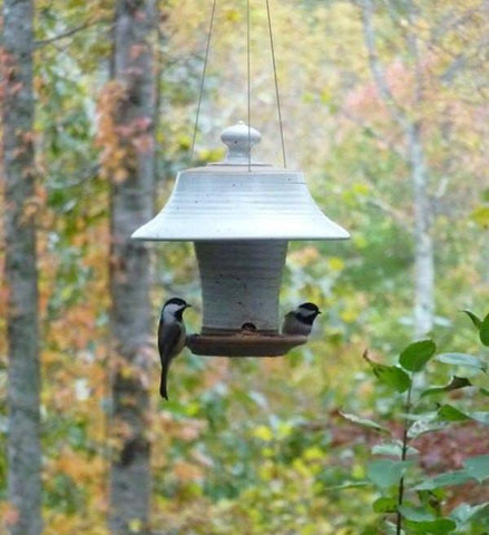 Stoneware Bird Feeder-Large
