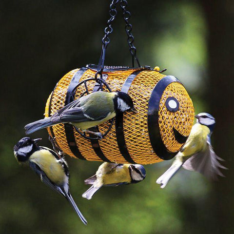 Mesh Bumble Bee Peanut & Seed Feeder