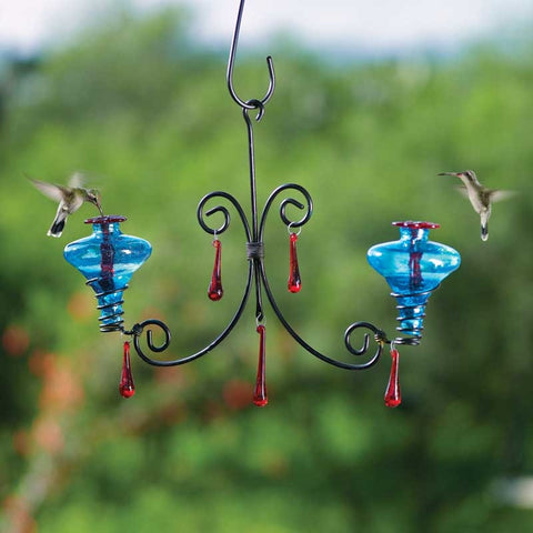 Mini-Blossom Chandelier Hummingbird Feeder