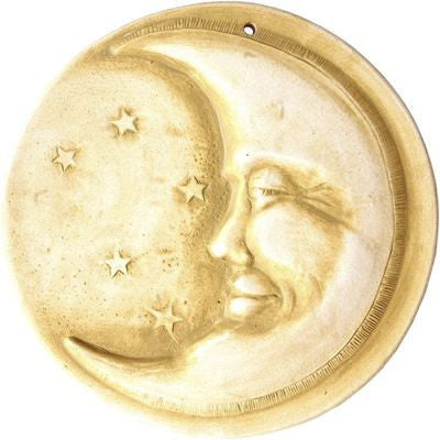 Handcrafted Moon Face Stepping Stone/Plaque