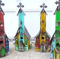 Church Birdhouses are one-of-a-kind rustic styles