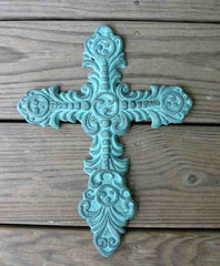 Cast Iron Cross-Hand Rubbed Pewter Finish