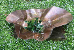 Free-Form Copper Bird Bath/Planter