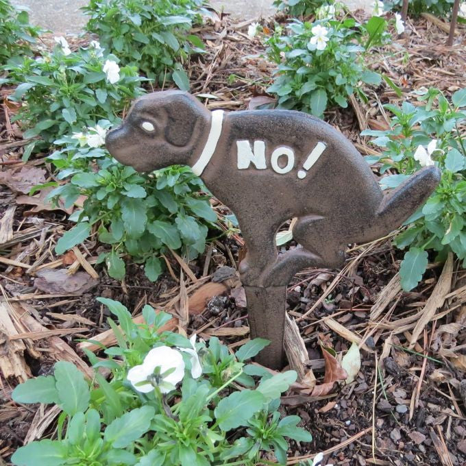 No Potty Here Garden Stake