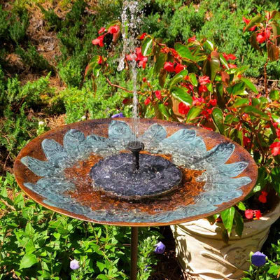 Solar Bird Bath with Tall Stake