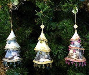 Christmas Classics Jeweled Tree Ornament Set-Thomas Kinkade