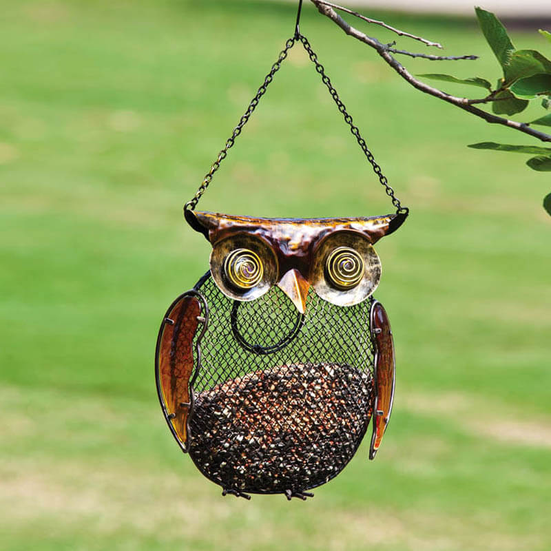 Owl Seed and Peanut Bird Feeder