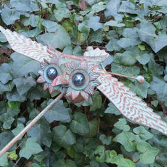 Large Kinetic Owl Garden Stake