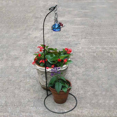 Patio Stand with Hummingbird Feeder