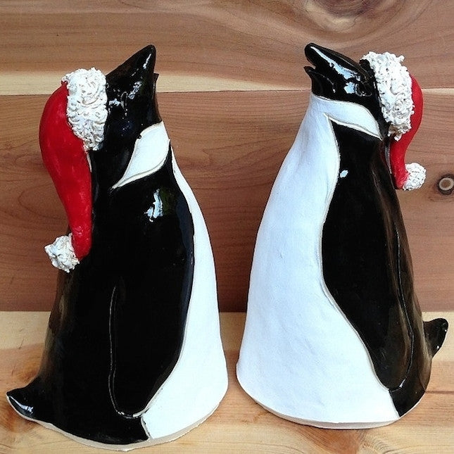 Ceramic Holiday Penguin Set