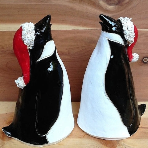 Handcrafted Holiday Penguin Set