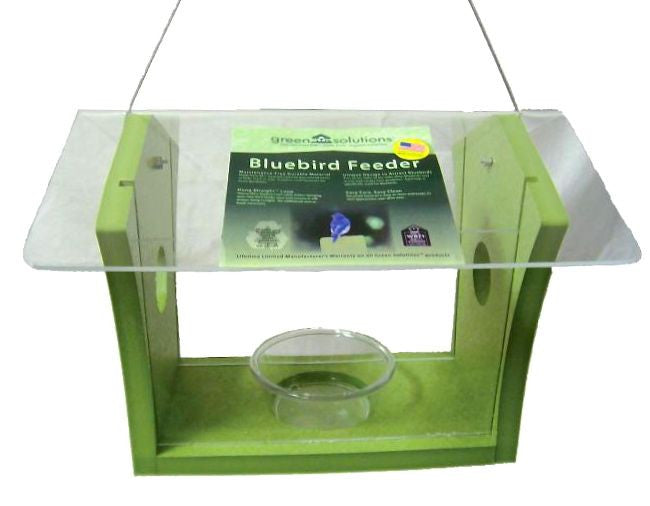 Recycled Fly-In Bluebird Feeder