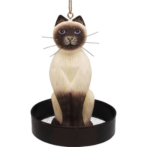 Siamese Cat Wooden Bird Feeder
