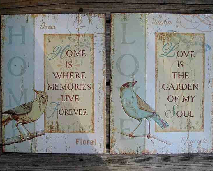 Love and Home Tin Wall Art