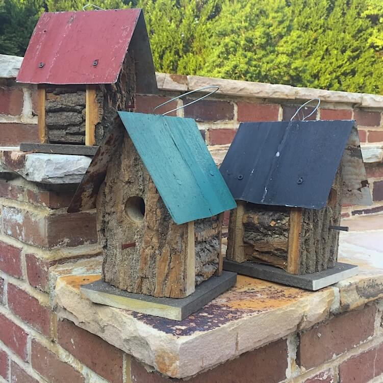 Small Log Birdhouses
