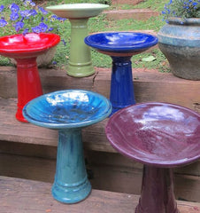 Short Pedestal Bird Bath-5 colors