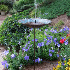 Staked Solar Fountain Bird Bath