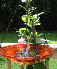 Solar Bubbler Hanging Bird Bath