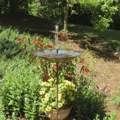 Solar Fountain for Birdbaths