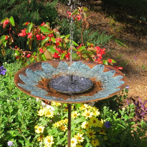 Solar Fountain for Bird Bath
