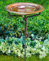 Solid Copper Staked Bird Bath