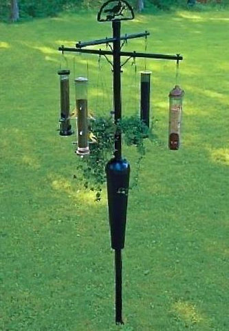 Squirrel Stopper 8-Arm Bird Feeder Pole