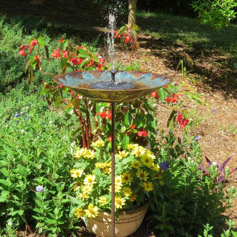 Solar Fountain Bird Bath Tall Birdbath With Solar