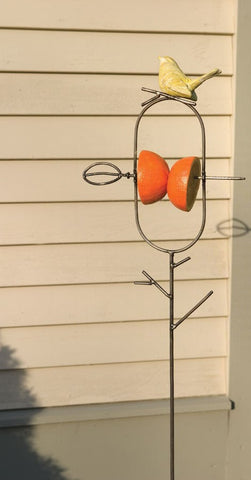 Staked Fruit Bird Feeder